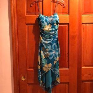 Floral Asymmetrical summer dress